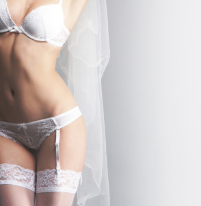 Sexy bride in panties