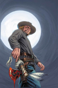Artwork for the cover of Jonah Hex vol. 2, 1 (Jan, 2006). Art by Luke Ross