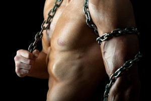 Strong dude with chain
